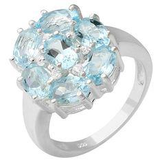 November Birthstone: 4.73ctw Topaz Ring (925 Sterling Silver), Retail $250