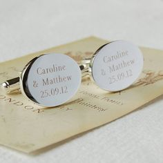 personalised oval cufflinks by highland angel | notonthehighstreet.com