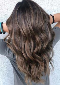 You may find here fantastic shades of brown balayage hair colors with awesome tones of ashy highlights for 2019. You may call it one of the fantastic hair colors for various hair lengths nowadays. #hair2019