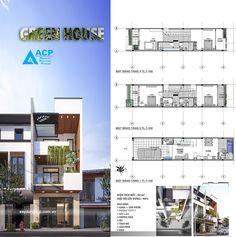 Home Design Plans 28 Ideas Narrow House Plans, Dream House Plans, House Floor Plans, Flat House Design, Modern House Design, Townhouse Designs, 3d Home, Architecture Plan, Home Design Plans