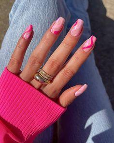 Bright Pink Nails, Subtle Nails, Bright Summer Nails, Pastel Nails, Spring Nails, Nails Summer Colors, Short Pink Nails, Nail Summer, Cute Summer Nails