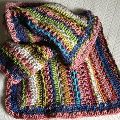 Ravelry: Project Gallery for Stashbuster Blarf (Rectangular Shawl) pattern by Esther Sandrof