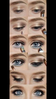 - Fun nail art, hairstyles and make-up - Eye Makeup Wedding Eye Makeup, Gold Eye Makeup, Dramatic Eye Makeup, Colorful Eye Makeup, Simple Eye Makeup, Natural Eye Makeup, Eye Makeup Tips, Smokey Eye Makeup, Makeup Tricks