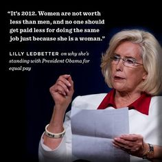 Lilly Ledbetter, Equal Pay Advocate