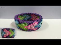 How to make rainbow spiral vase (bowl) - YouTube