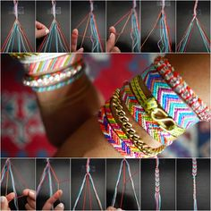 How to DIY Chevron Pattern Friendship Bracelet tutorial and instruction. Follow us: www.facebook.com/fabartdiy