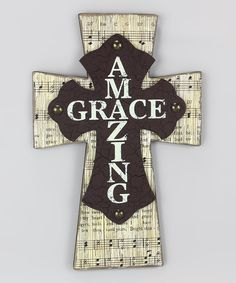 Look at this Young's 'Amazing Grace' Cross on #zulily today!