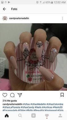 Stiletto Nails, Coffin Nails, Acrylic Nails, Beautiful Nail Designs, Perfect Nails, Nail Art Designs, My Nails, Nail Polish, Makeup