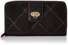 Vera Bradley Preppy Poly Wallet, Black, One Size -- Visit the image link more details.