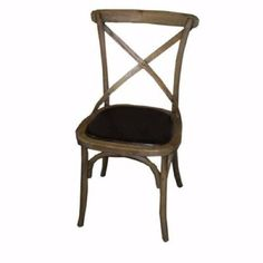 Inspired by the popular European Cafe chair, our versatile cross back Wilson Chair is a blend of bentwood tradition and the modern demands of hard wearing materials. With its rich brown leather padded seat, comfort, good design and durability are beautifully combined. NB: Please enquire for availability prior to ordering