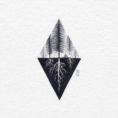 Up and Underground. old ink work. Good evening... . . . . .  #outdoor #camping #underground #tatts #tattoo #tattoos #triangle #geometric #nature #wanderlust #balitattoo #flash #flashart #tattoolife #tattooart #bali #bachtz