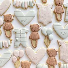 Bear Cookies, Onesie Cookies, Cookies For Kids, Fancy Cookies, Royal Icing Cookies, Custom Cookies, Spice Cookies, Sugar Cookie Cakes, Cupcake Cookies