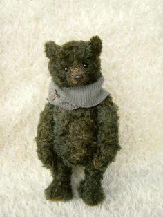 Dependable Donald OOAK Mohair Artist Bear by by aerlinnbears