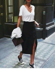 Black and white city outfit