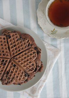 Paleo chocolate waffles / chocolade wafels , glutenvrij, suikervrij, lactosevrij
