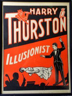 Original Harry Thurston Lithograph Poster ca. 1930