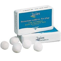 Boules Quies Ear Plugs by Caswell-Massey. $4.50. Box of 7 pairs. Shh! If quite is what you are looking for, look no further.  Made from individually cotton wrapped beeswax balls, these are the softest and gentlest earplugs available.  The beeswax warms to the shape of your inner ear providing maximum noise control.  Boules Quies are great for the traveler, parent with an noisy child or person with a snoring spouse. Disposable protective earplugs made of natural ...