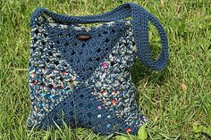 Granny Square bag - *Inspiration* be sure to line this one or you'll be losing pens and pencils all over the city. I'd try and find fabric that looks good on both sides so you don't have to create a double-sided lining (but I'm lazy). Lining your bag will also add reinforcement and help keep your bag from becoming misshapen.