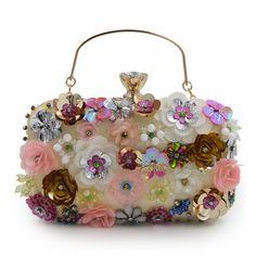 Women Female Bags Flower Shape Wedding Party Clutch Purse Ladies Gold Day  Clutches. Women s HandbagsFashion HandbagsDesigner HandbagsWallet ... accc8f02c07d