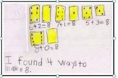 Dot Cards: How many ways can you find to make 8?