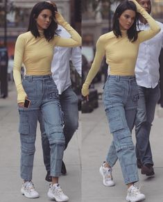 Style Casual Kendall Jenner Jeans Ideas For 2019 Retro Outfits, Grunge Outfits, Trendy Outfits, Summer Outfits, Cute Outfits, Hipster Outfits, 90s Fashion, Trendy Fashion, Fashion Models