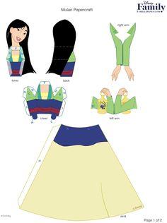 boneca+princesa+mulan+papercraft+3d.jpg (1192×1600)