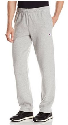 Champion Men's Powerblend Open Bottom Fleece Pant Fleece Pants, Fleece Fabric, Post Workout Supplements, Champion, Fashion Men, Oxford, Pajama Pants, Sweatpants, Coloring Books