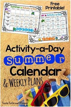 Activity-a-Day Summer Calendar & Weekly Plans