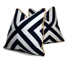 Add some style with this 18 x 18 black and white patchwork X pattern pillow. The front striped fabric is a cotton pattern print and the X pattern is handmade. The back side is a beautiful silk bronze velour with a hidden zipper enclosure on the bottom. This sale is for the pillow cover only and does not include the pillow insert. We recommend that you fill this pillow with a 20 x 20 down pillow form.  These are made to order. Please allow 5-7 days for completion. Thanks for looking