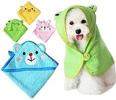 Cat Bathing cat bath harness - EverTrust(TM) Soft Pet Dog Cute Cartoon Pajamas Dog Bathrobe Multifunction Absorbent Pet Bath Towel Animal Puppy Cat Warm Blanket Pet Supplies >>> More info could be found at the image url. (This is an affiliate link) Towel Animals, Cute Animals, Cat Bath, Dog Clothes Patterns, Hamster, Dog Items, Pet Fashion, Dog Pattern, Dog Sweaters
