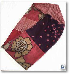 薔薇柄銘仙と絞り着物リメイクスヌード16