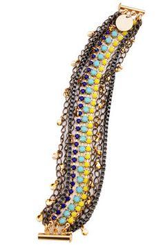 Gold & Citrus Soma Bracelet, $120