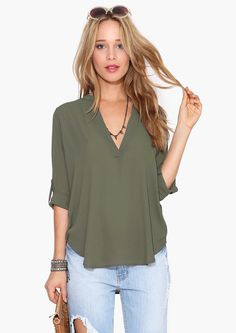 The Necessary Blouse in Olive