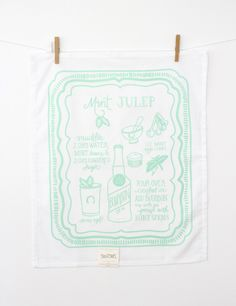 we're obsessed with this mint julep tea towel!!