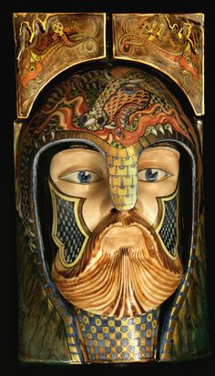David Burnham Smith - Master Ceramic Artist- looks like a representation of Odin.