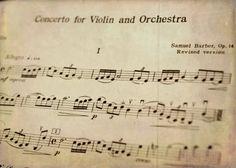 Samuel barber violin concerto sheet music