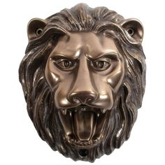 Beer Buddies Lion Wall Mounted Bottle Opener - Bronze ($24) ❤ liked on Polyvore featuring home, kitchen & dining, bar tools, wall-mounted bottle opener, wall beer opener, wall mount beer opener, wall mount beer bottle opener and wall mounted bottle opener