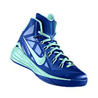 I designed the game royal Nike Hyperdunk 2014 iD men\u0027s basketball shoe with  hyper turq trim