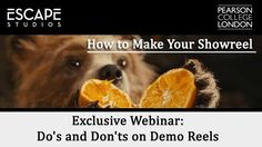 How to make a showreel webinar