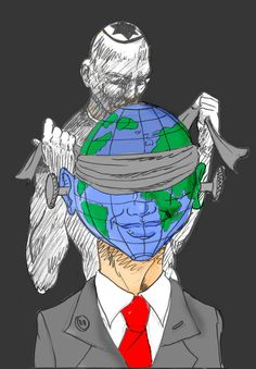 An updated version of the beloved'International Zionist Conspiracy' myth. Anti Semitic, Caricature, Culture, History, Instagram Posts, Artist, Anime, Fictional Characters, Conspiracy