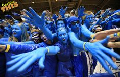"Duke Basketball fans in Cameron Indoor. ""The Cameron Crazies"""