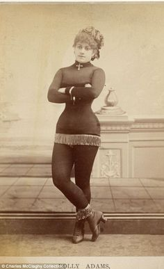Burlesque beauties of the 1890s: Stunning vintage photos of 'loose women in tights' who perfected the art of the tease.
