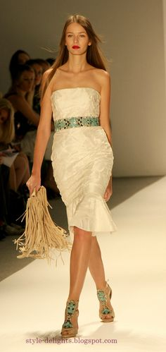 I want this belt and bag!! Carlos Miele Spring 2013 collection at NYFW