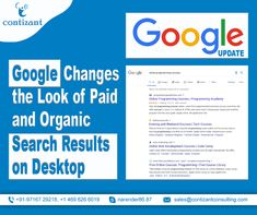 #Google has launched an enhanced look for organic and #paidsearch results for desktop, assimilating it to the appearance of mobile search results. The new design will comprise a prominent looking label for ad linked with paid results. This design will be included in Google's estimation along with #favicons appearing next to the organic results.  #GoogleUpdate #googleads #digitalmarketing #SEO #PPC #updates #marketing #OnlineMarketing #searchengine Online Marketing, Digital Marketing, Course Search, Google S, Search Engine, Online Courses, Seo, Desktop, Label