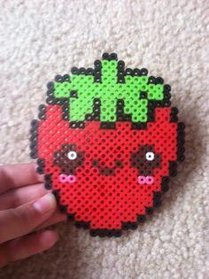 Perler bead strawberry