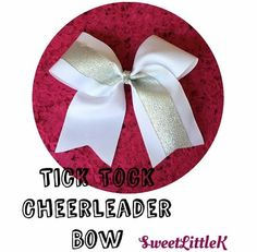 Beautiful white and silver cheer bow! Handmade with love 💕