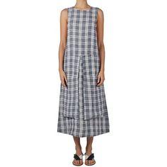 WENDY DRESS - NAVY/WHITE CHECK