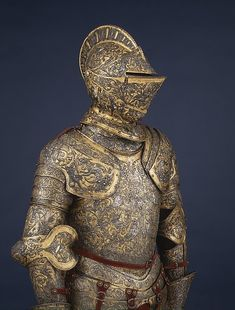 Armor of Henry II of France  Date: about 1555 Culture: French, possibly Paris Medium: Steel, embossed, blued, silvered, and gilt