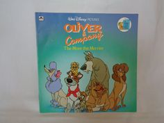 Vintage 1988 Oliver & Company The More the Merrier Walt Disney Pictures' book by Justine Korman by TheVintageKeepers on Etsy