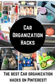 These are the best car organization hacks on Pinterest. You've never been more prepared in the car!